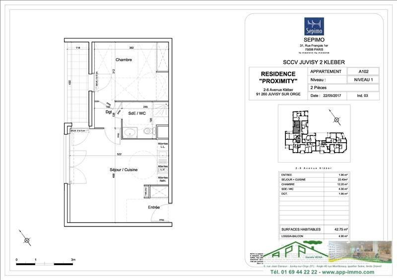 Investment property apartment Juvisy sur orge 219000€ - Picture 4