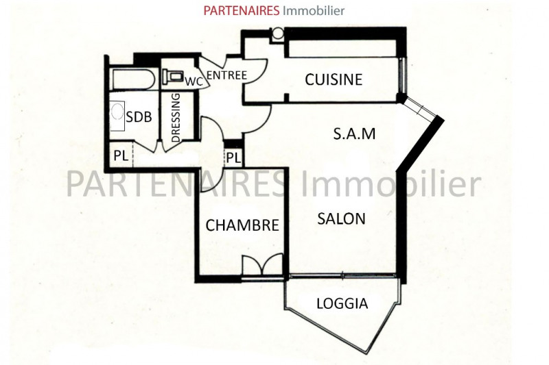 Sale apartment Le chesnay 264000€ - Picture 5