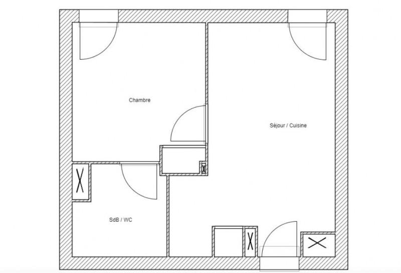 Sale apartment Bordeaux 90000€ - Picture 1