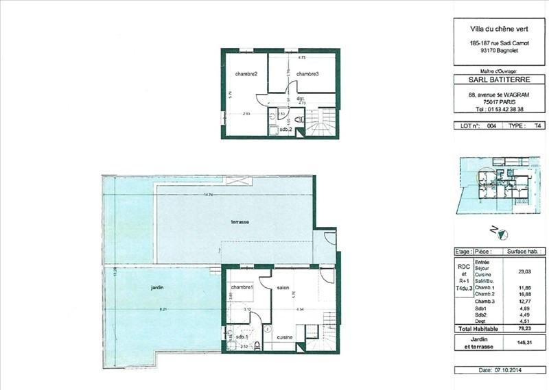 Vente appartement Bagnolet 398400€ - Photo 1