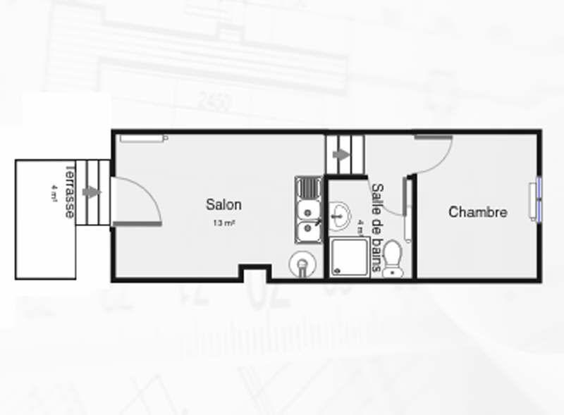 Location appartement Palaiseau 654€ CC - Photo 2