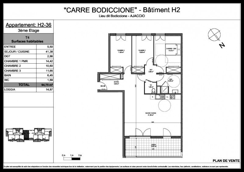 Sale apartment Ajaccio 280 000€ - Picture 2