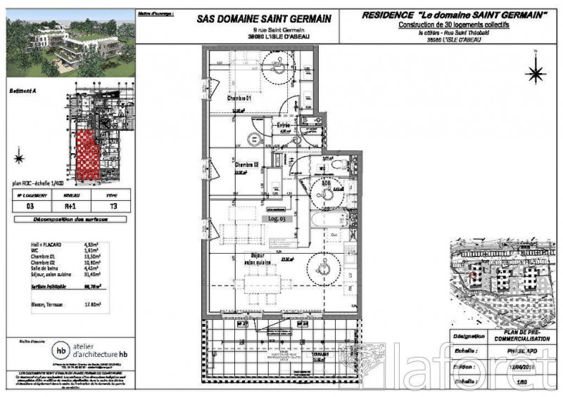 Sale apartment L isle d'abeau 225000€ - Picture 3