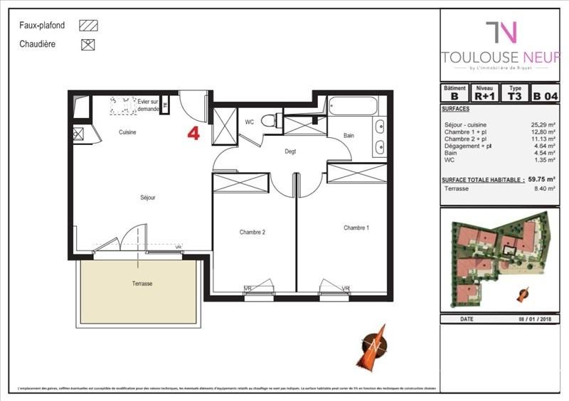 Vente appartement Tournefeuille 191850€ - Photo 2