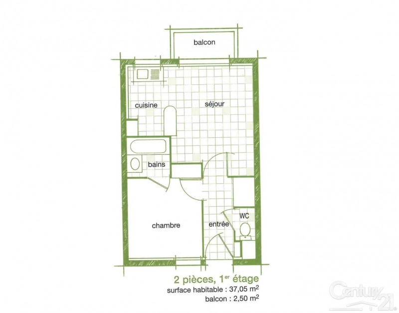 Verkoop  appartement Touques 98000€ - Foto 2