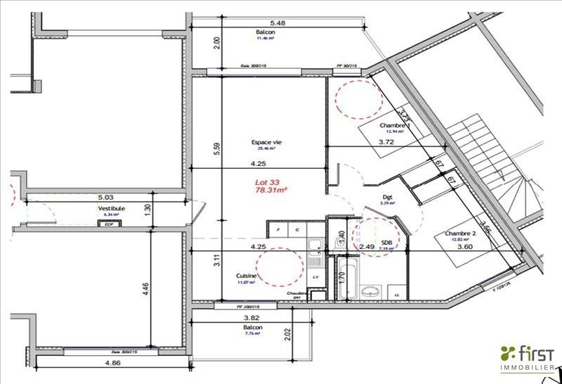 Vendita appartamento Balme de sillingy 291000€ - Fotografia 2