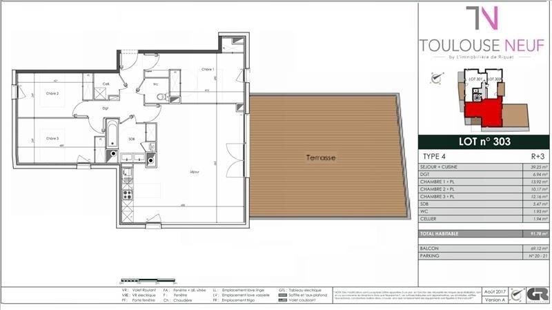 Vente appartement Toulouse 549000€ - Photo 8