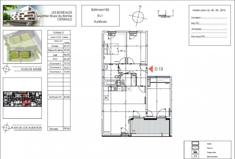 Vente appartement Ostwald 268400€ - Photo 2
