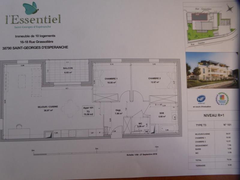 Vente appartement St georges d esperanche 230000€ - Photo 2