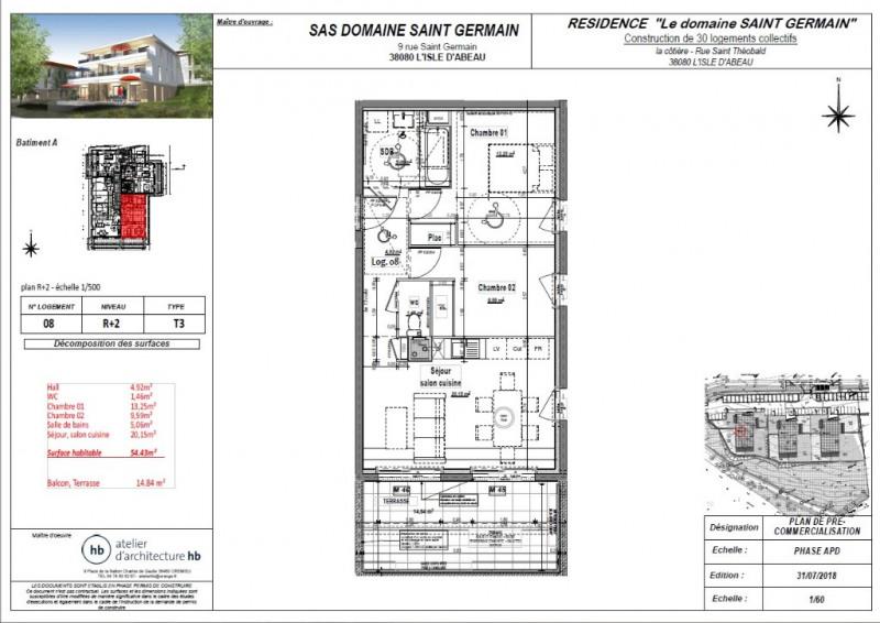 Sale apartment L isle d abeau 159860€ - Picture 3