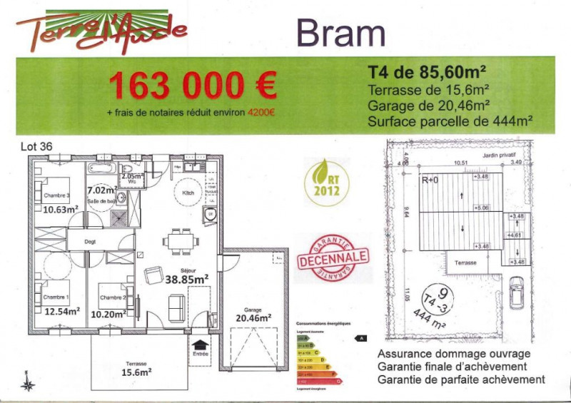 Produit d'investissement maison / villa Bram 163 000€ - Photo 2