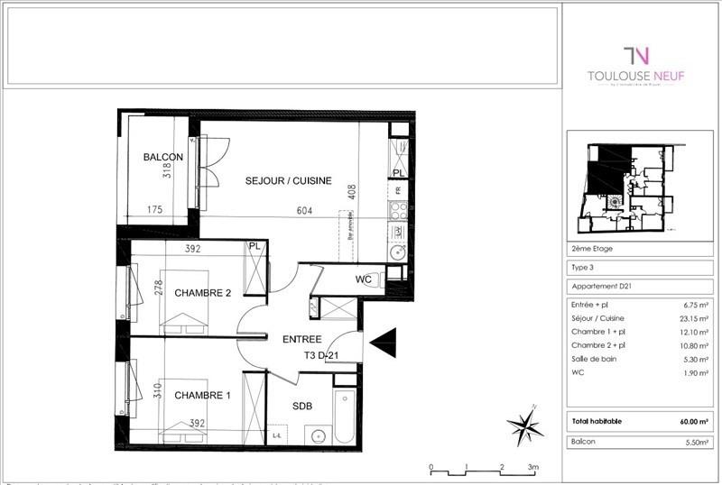 Vente appartement Toulouse 175000€ - Photo 8
