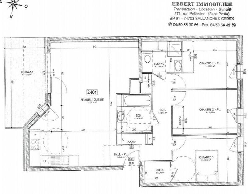 Vendita appartamento Sallanches 341000€ - Fotografia 2