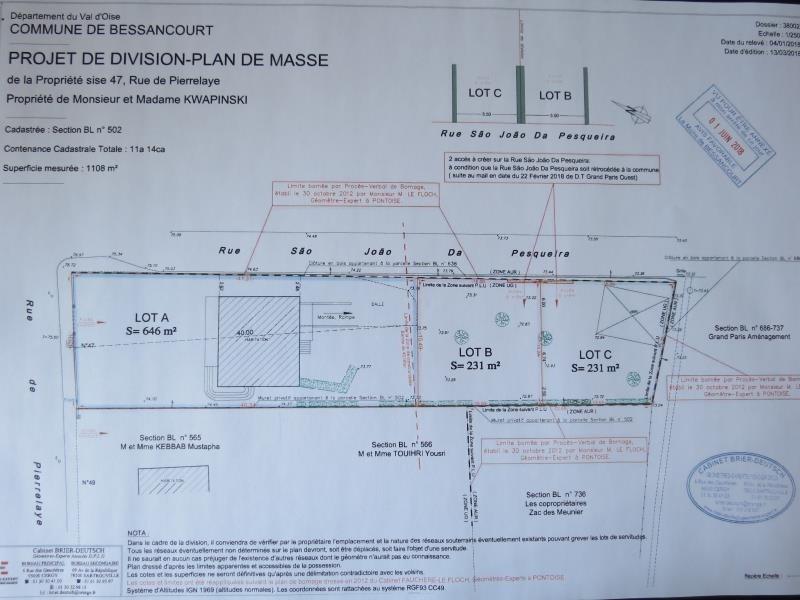 Vente terrain Bessancourt 152000€ - Photo 2