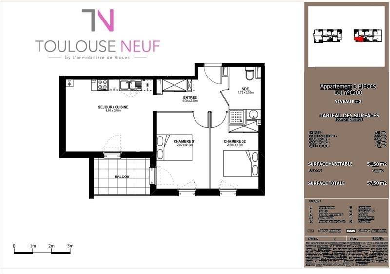 Vente appartement Toulouse 206500€ - Photo 8