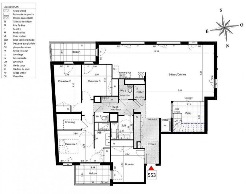 Vente de prestige appartement Lyon 5ème 1490000€ - Photo 3