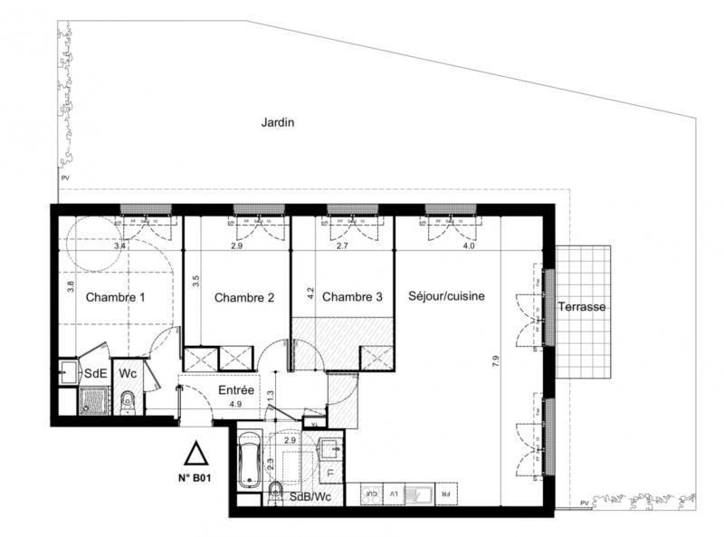 Sale apartment Plaisir 345000€ - Picture 2