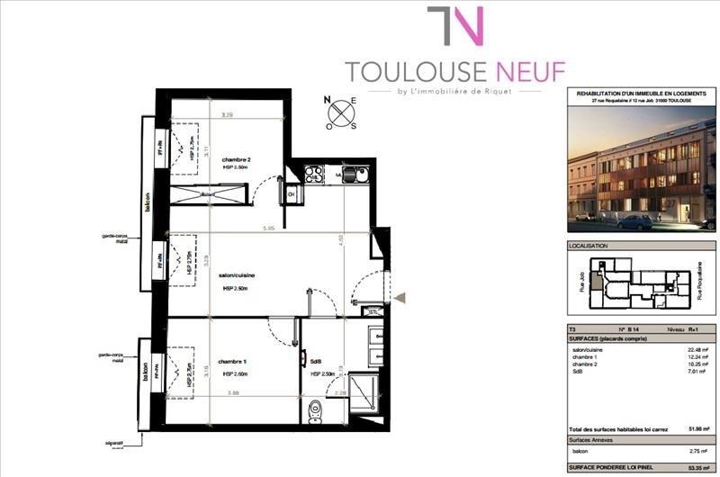 Vente appartement Toulouse 320000€ - Photo 7