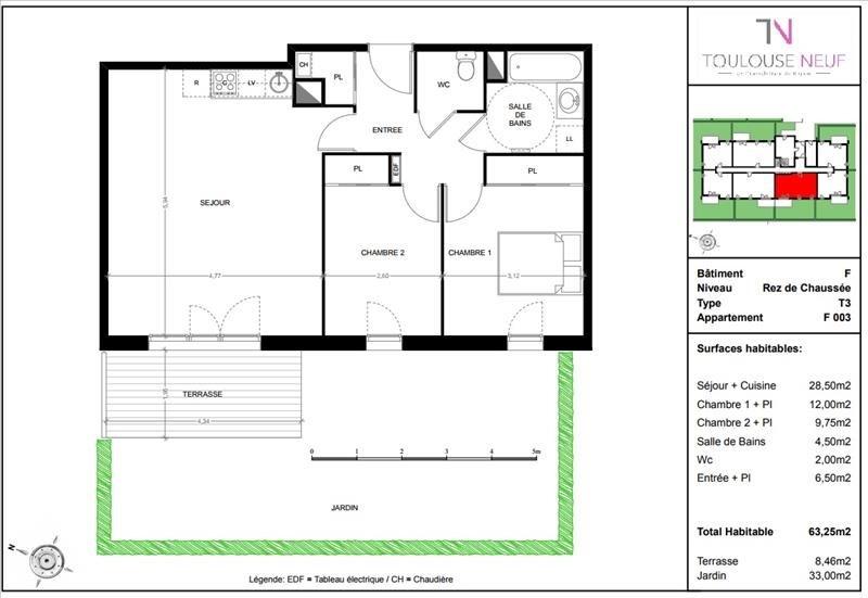 Vente appartement Toulouse 219000€ - Photo 10