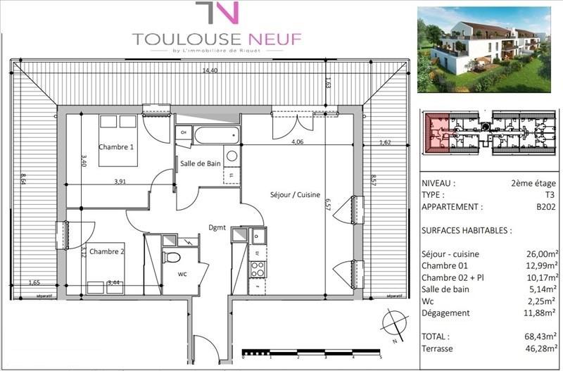 Vente appartement Toulouse 264000€ - Photo 9