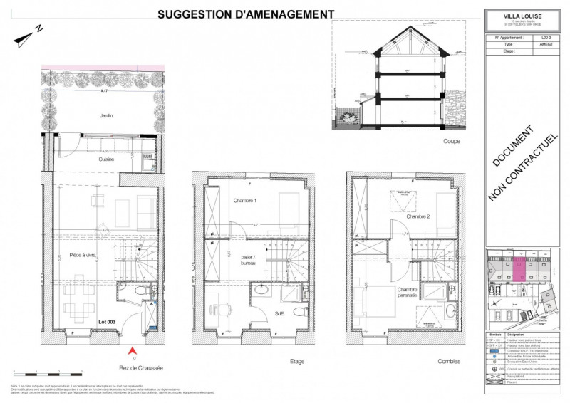 Venta  casa Villiers sur orge 211120€ - Fotografía 3