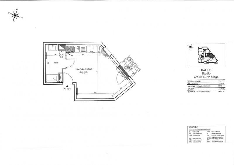 Sale apartment Nantes 133000€ - Picture 3