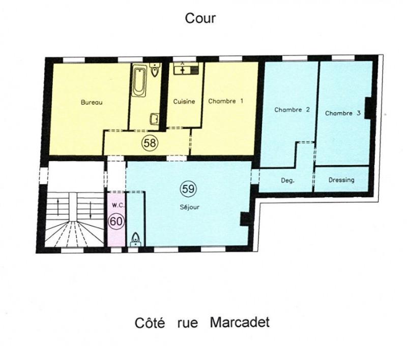Vente de prestige appartement Paris 18ème 1198000€ - Photo 2