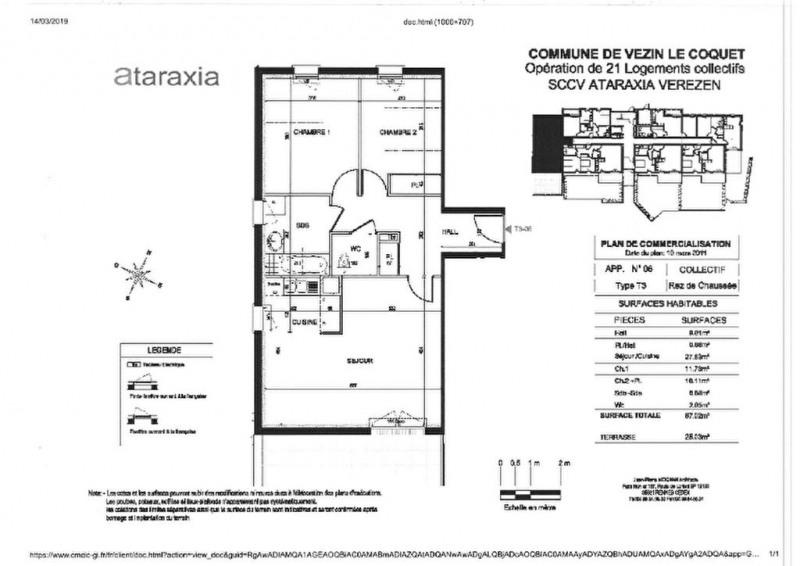 Location appartement Vezin le coquet 592€ CC - Photo 1