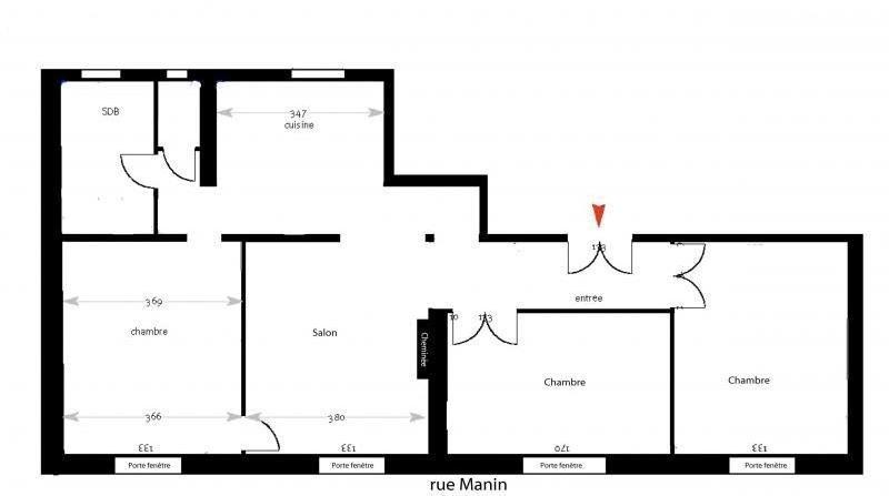 Immobile residenziali di prestigio appartamento Paris 19ème 1350000€ - Fotografia 8