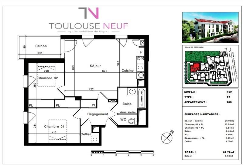 Vente appartement Toulouse 269000€ - Photo 9