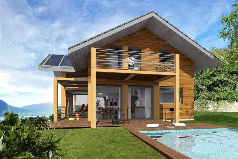 Maison neuve contemporaine avec vue lac