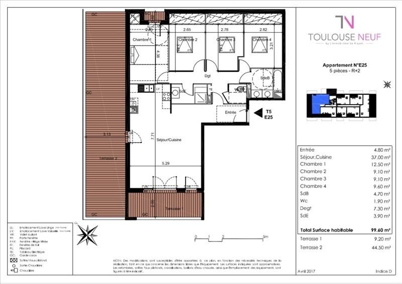 Vente appartement Tournefeuille 352000€ - Photo 5