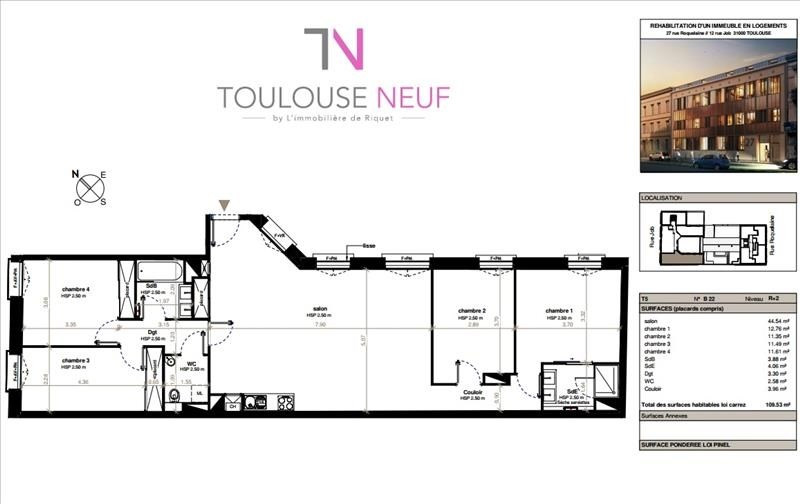 Vente de prestige appartement Toulouse 740 000€ - Photo 8