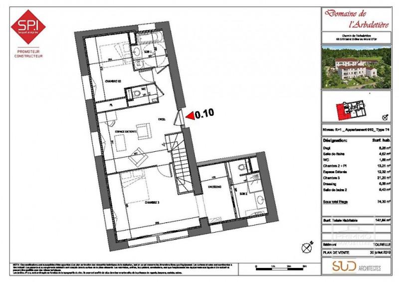 Deluxe sale apartment Saint didier au mont d'or 825000€ - Picture 6