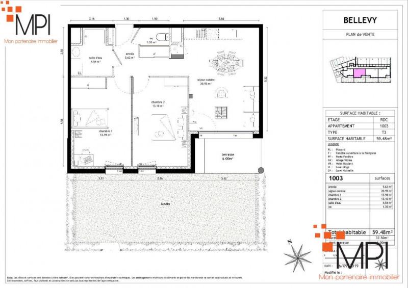 Sale apartment Vezin le coquet 189000€ - Picture 3