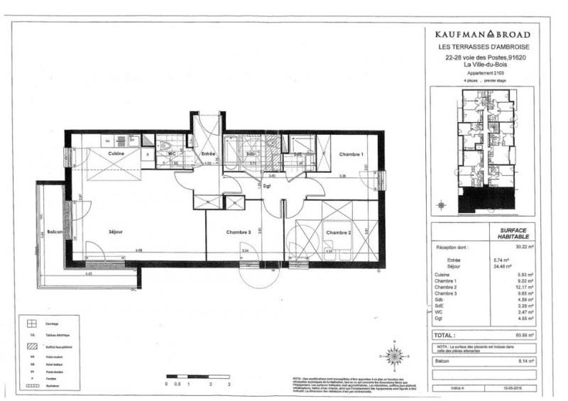 Vente appartement La ville du bois 260000€ - Photo 6