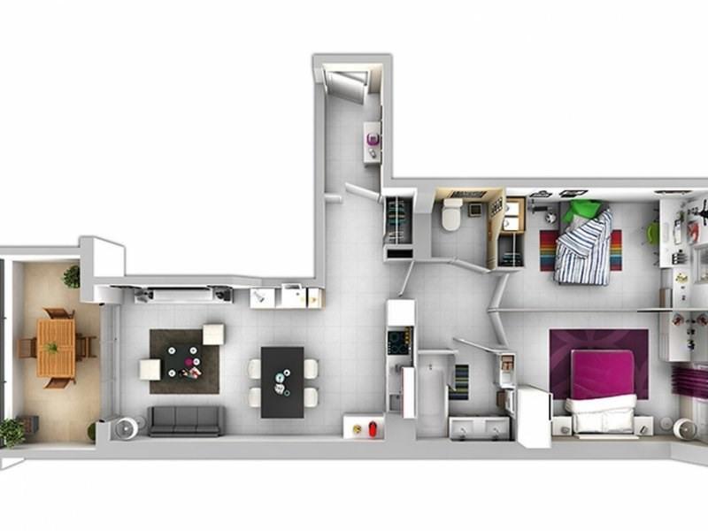 Sale apartment Les angles 140000€ - Picture 3