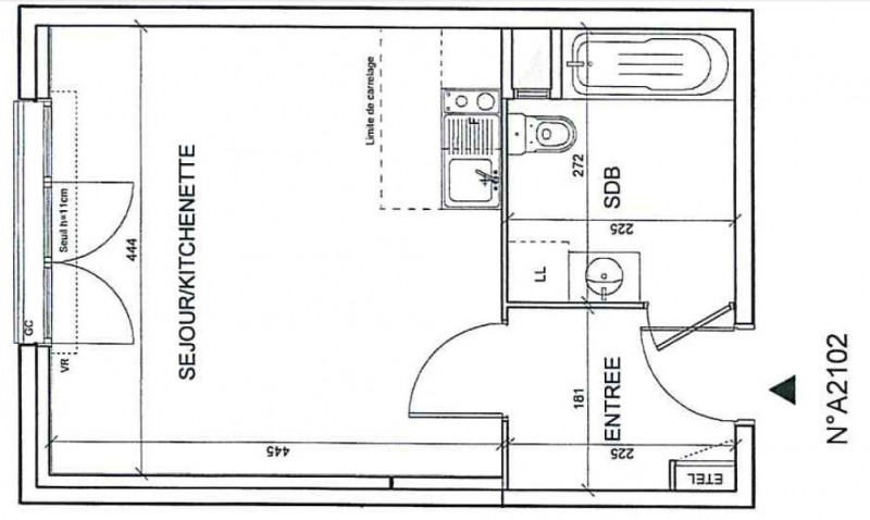 Appartement Romainville 1 pièce (s) 29,39 m²