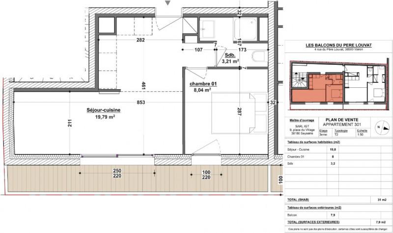 Vente appartement Voiron 107800€ - Photo 2