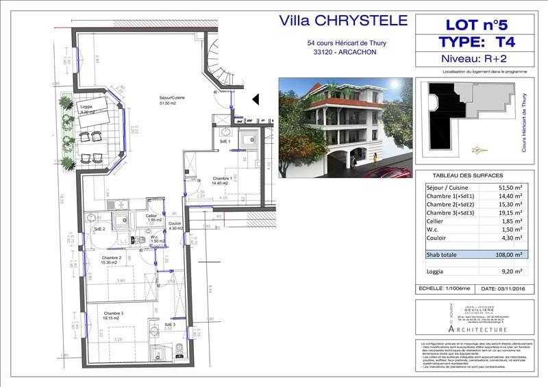 Vente de prestige appartement Arcachon 710000€ - Photo 2