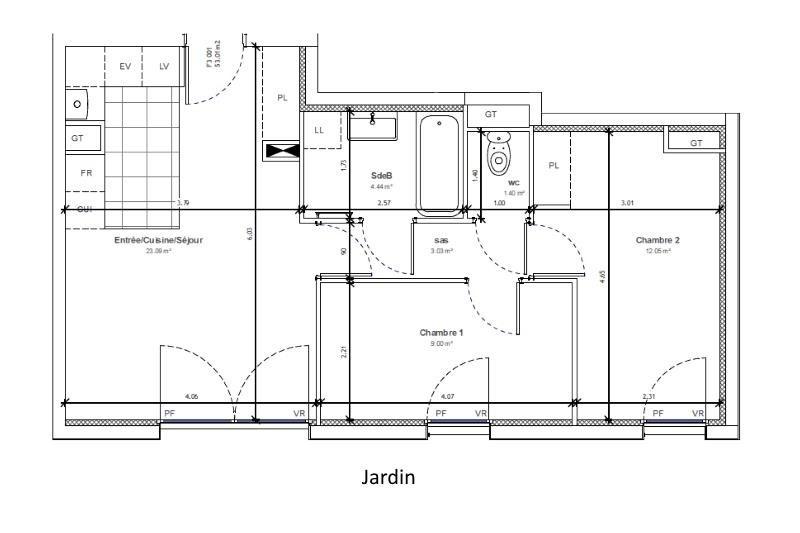 Sale apartment Massy 379100€ - Picture 3