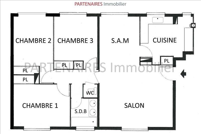 Sale apartment Le chesnay 250 000€ - Picture 9
