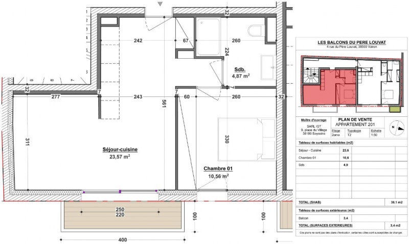 Vente appartement Voiron 129900€ - Photo 2