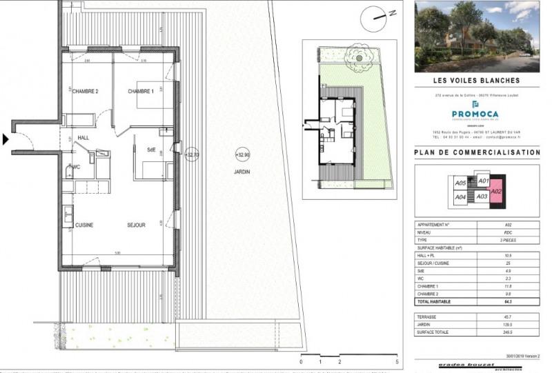 Sale apartment Villeneuve loubet 400000€ - Picture 2