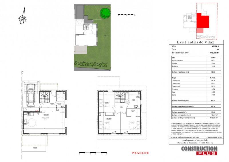 Vente maison / villa Villaz 396000€ - Photo 4