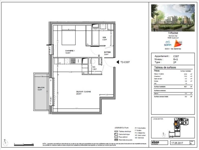 Venta  apartamento Guyancourt 260800€ - Fotografía 1