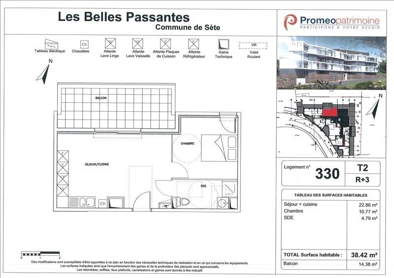 Rental apartment Sete 550€ CC - Picture 1