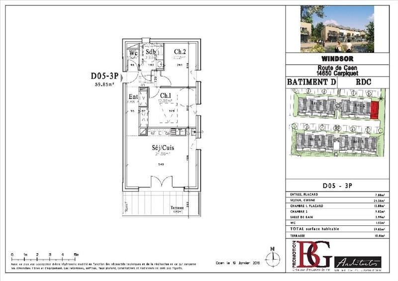 Alquiler  apartamento Carpiquet 674€ CC - Fotografía 2