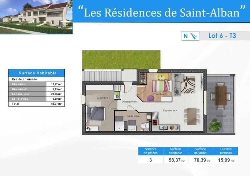 Vente appartement St alban de roche 189500€ - Photo 2