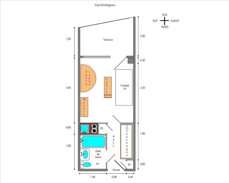 Vente appartement L alpe d'huez 79000€ - Photo 5